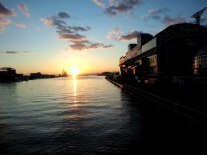 釧路の夕日